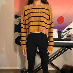 Sweaters - Yellow and black sweater